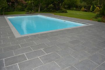 Chattis Black Flamed Basalt Sandstone Natural Stone Copings